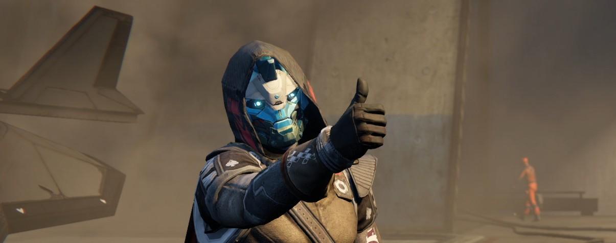 Destiny 2 Cayde 6 pollice in su