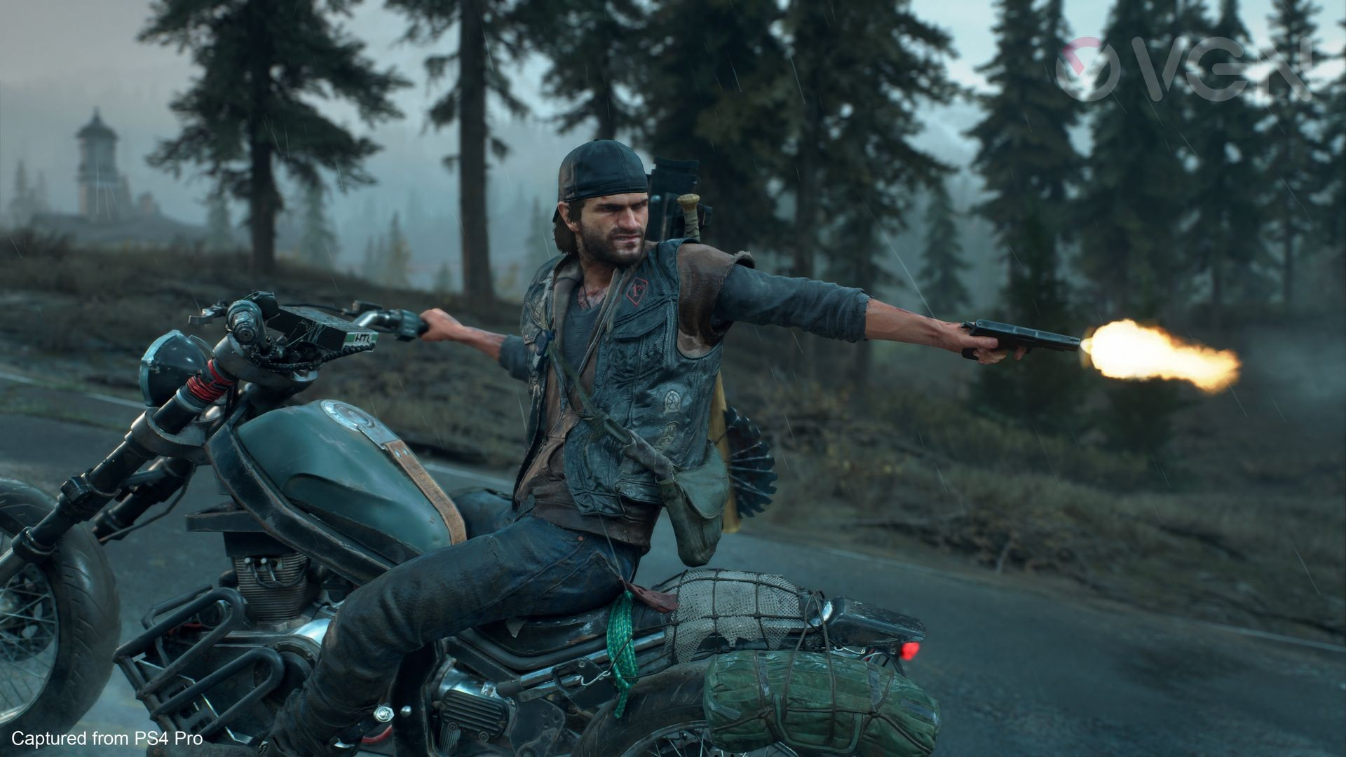 Days Gone Gameplay Sparatoria moto