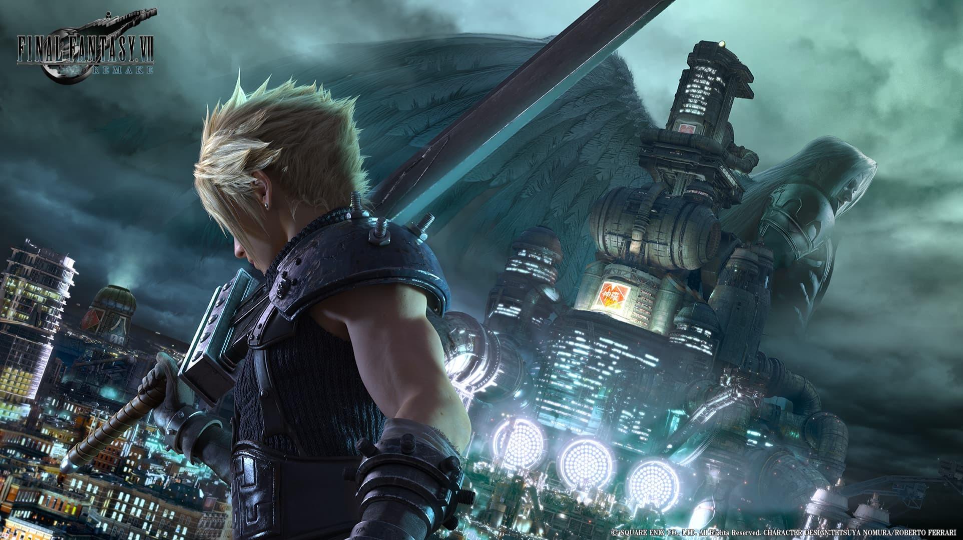 Final Fantasy VII Remake artwork presskit