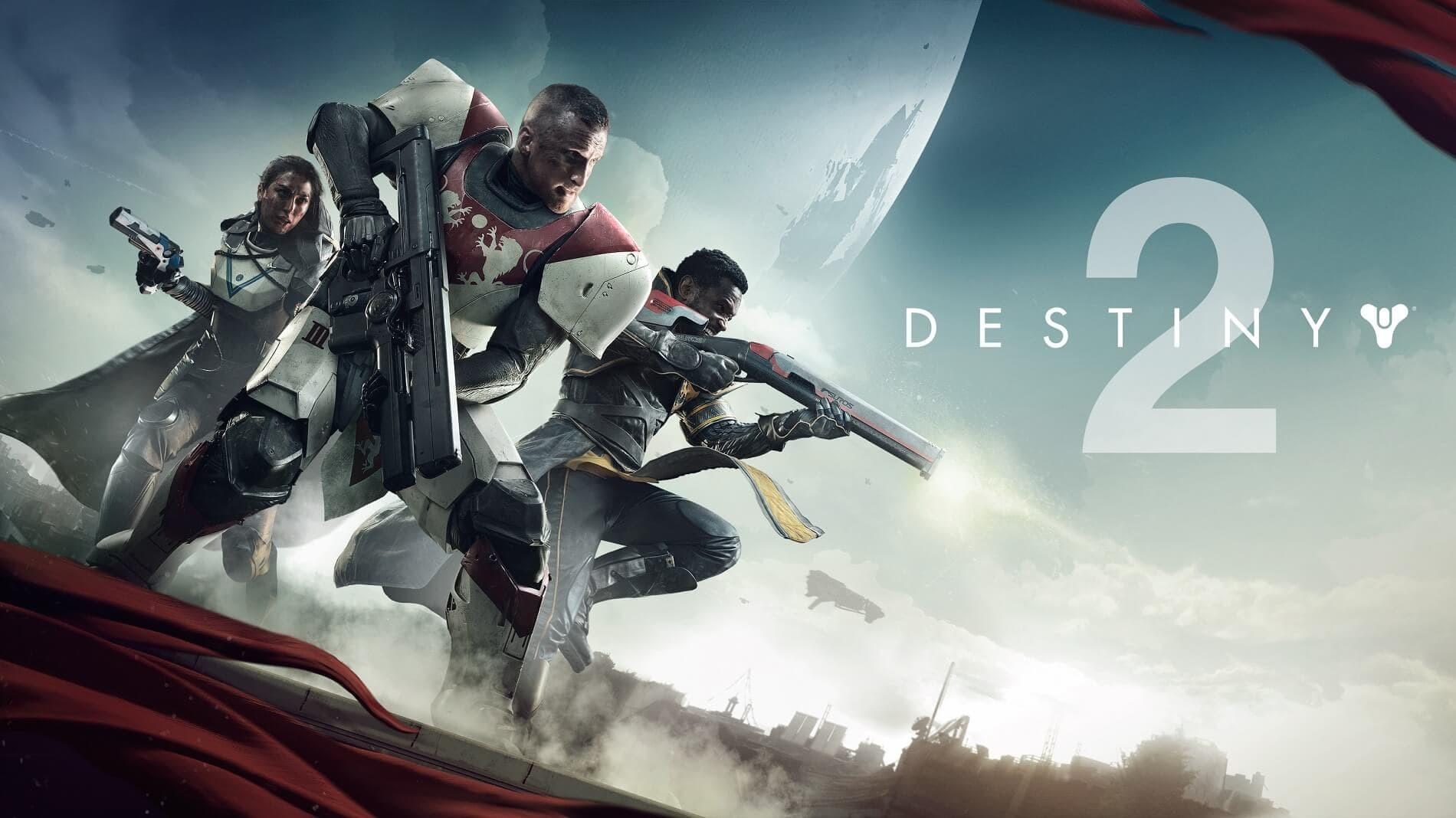 Destiny 2 cover art con logo