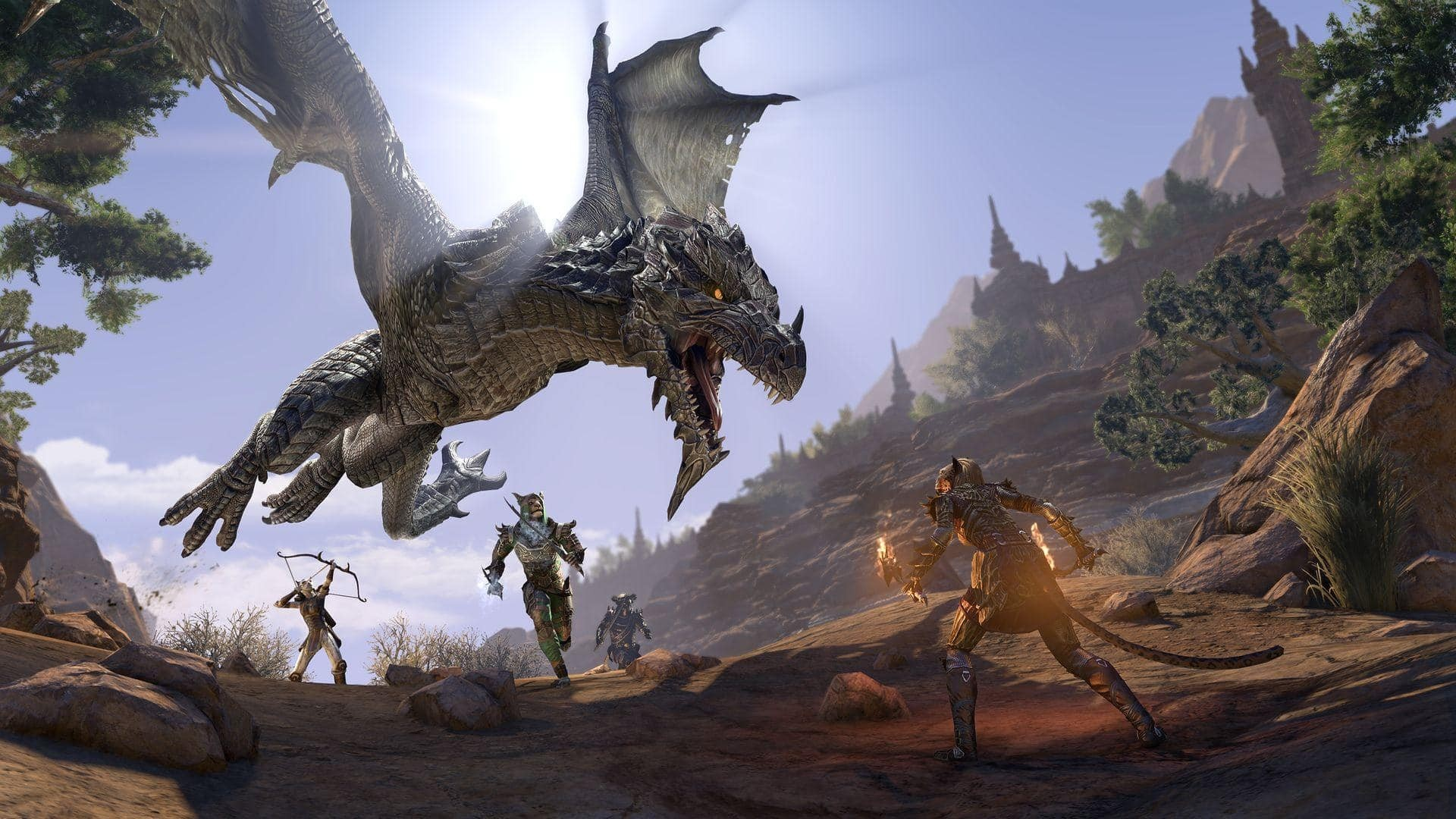 The Elder Scrolls Online Elsweyr artkork drago