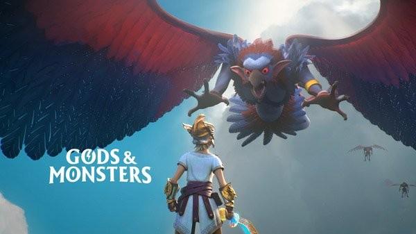 Gods and Monsters Ubisoft copertina con logo