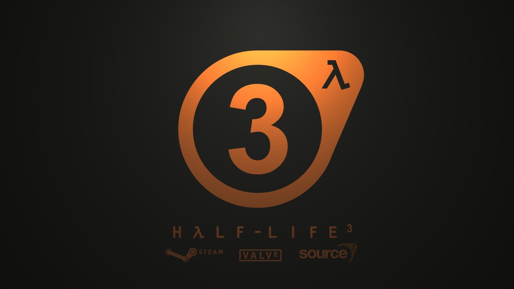 Half Life 3 Logo con scritta