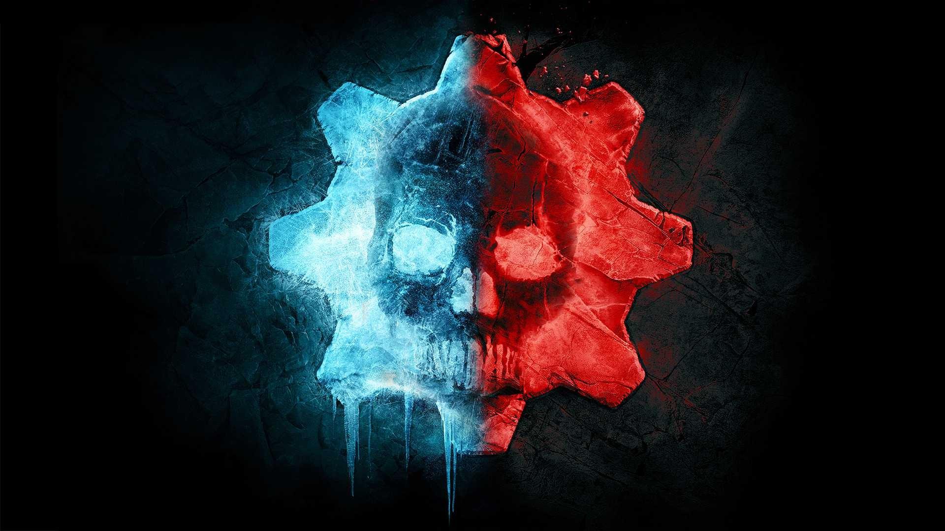 Gears 5 logo blu e rosso