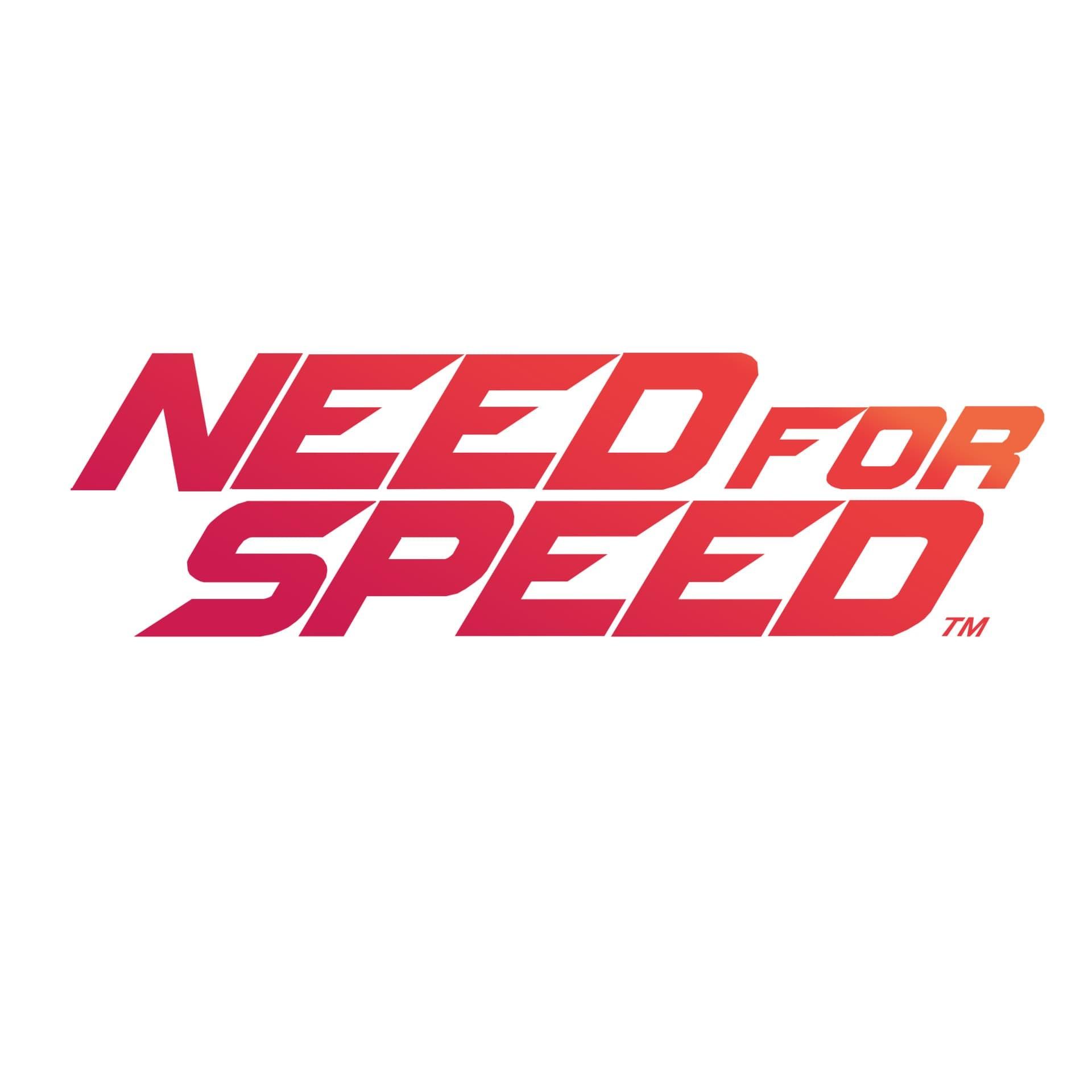Need For Speed Logo gradiente sfondo bianco