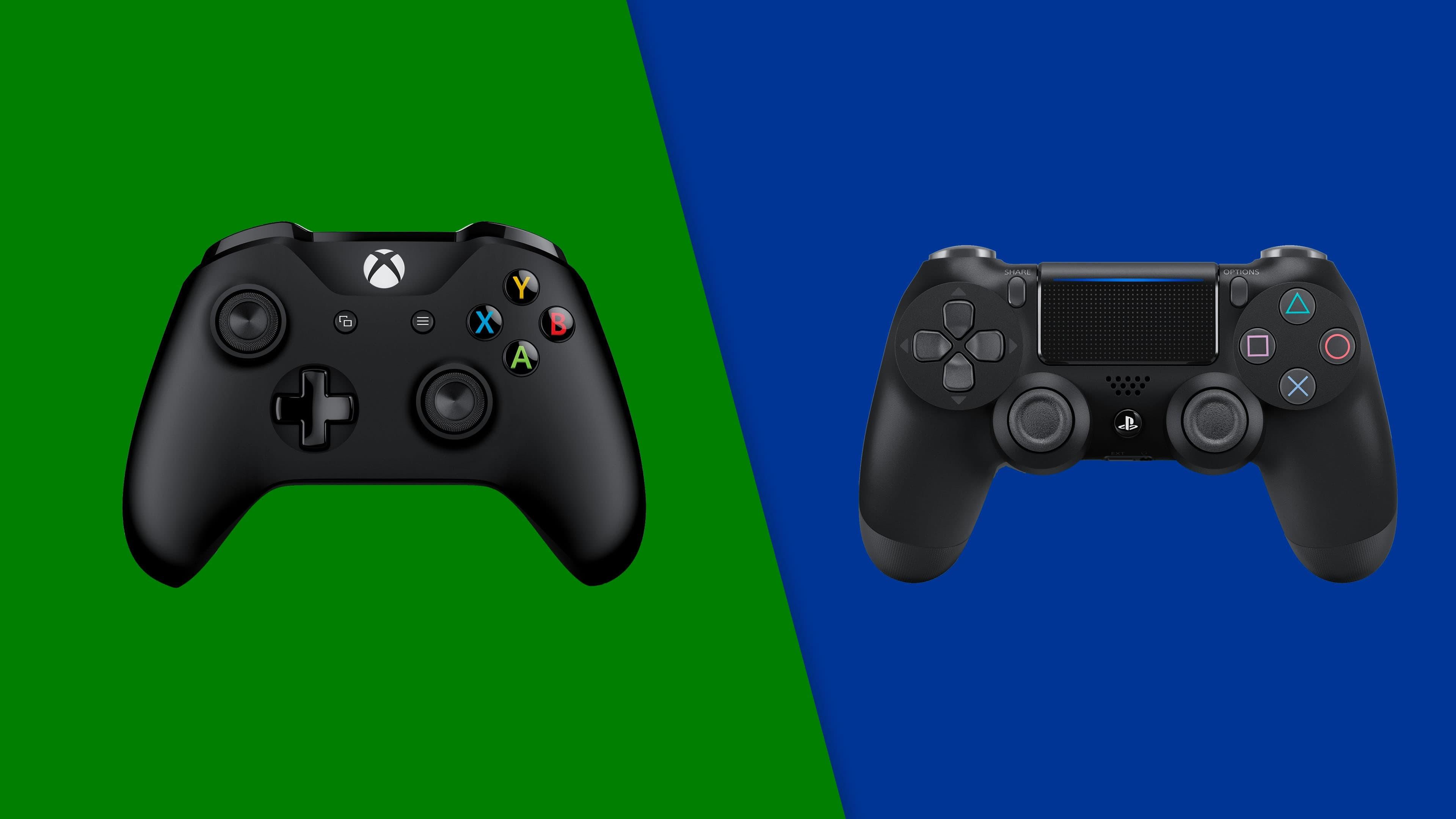 Controller PS4 e Xbox One Sfondi colorati