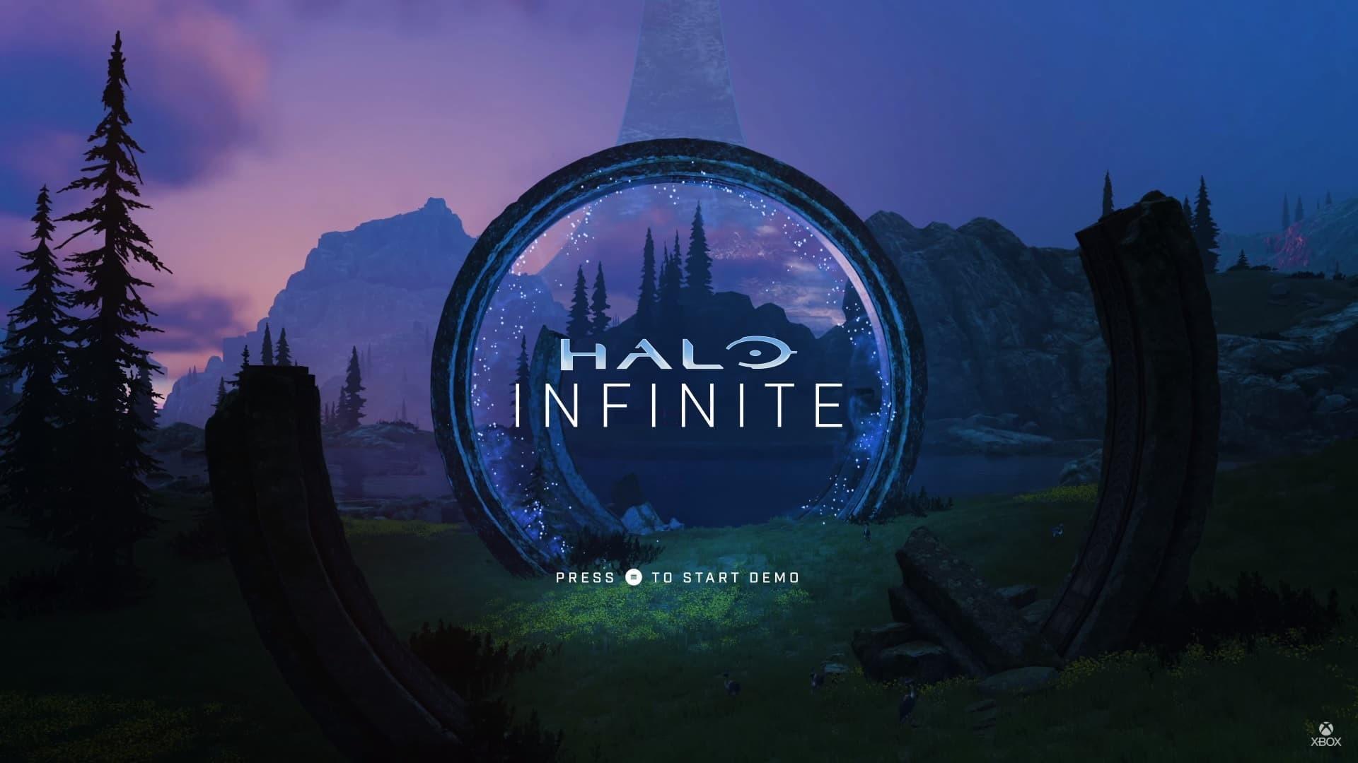 Halo Infinite Premi Star per iniziare menu