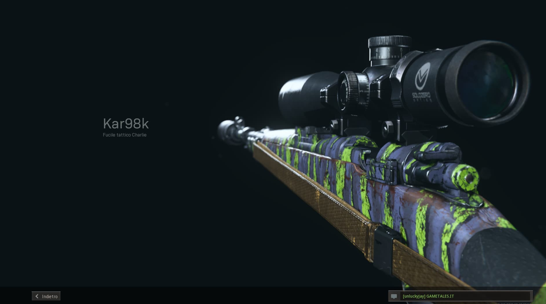 Call of Duty Warzone Build kar98k gmt monoblocco anteprima