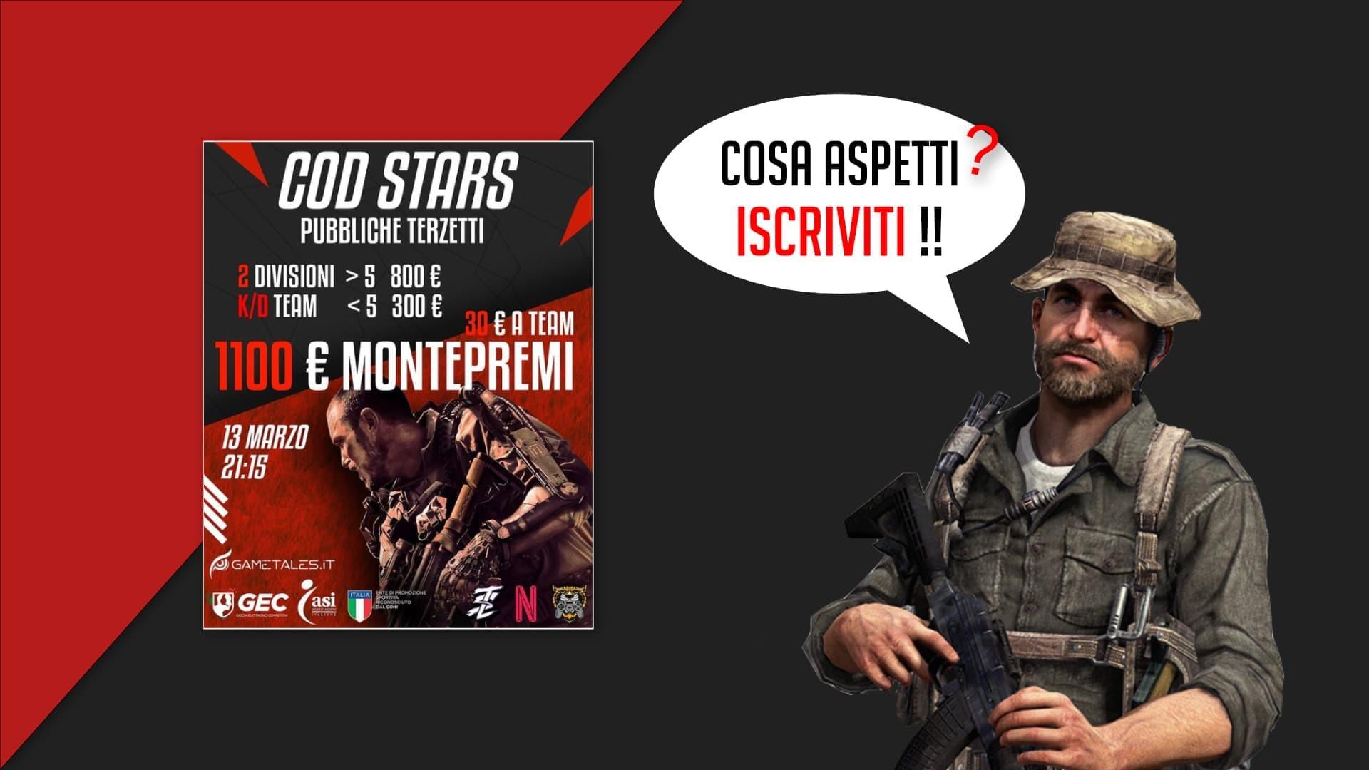 COD Stars torneo terzetti