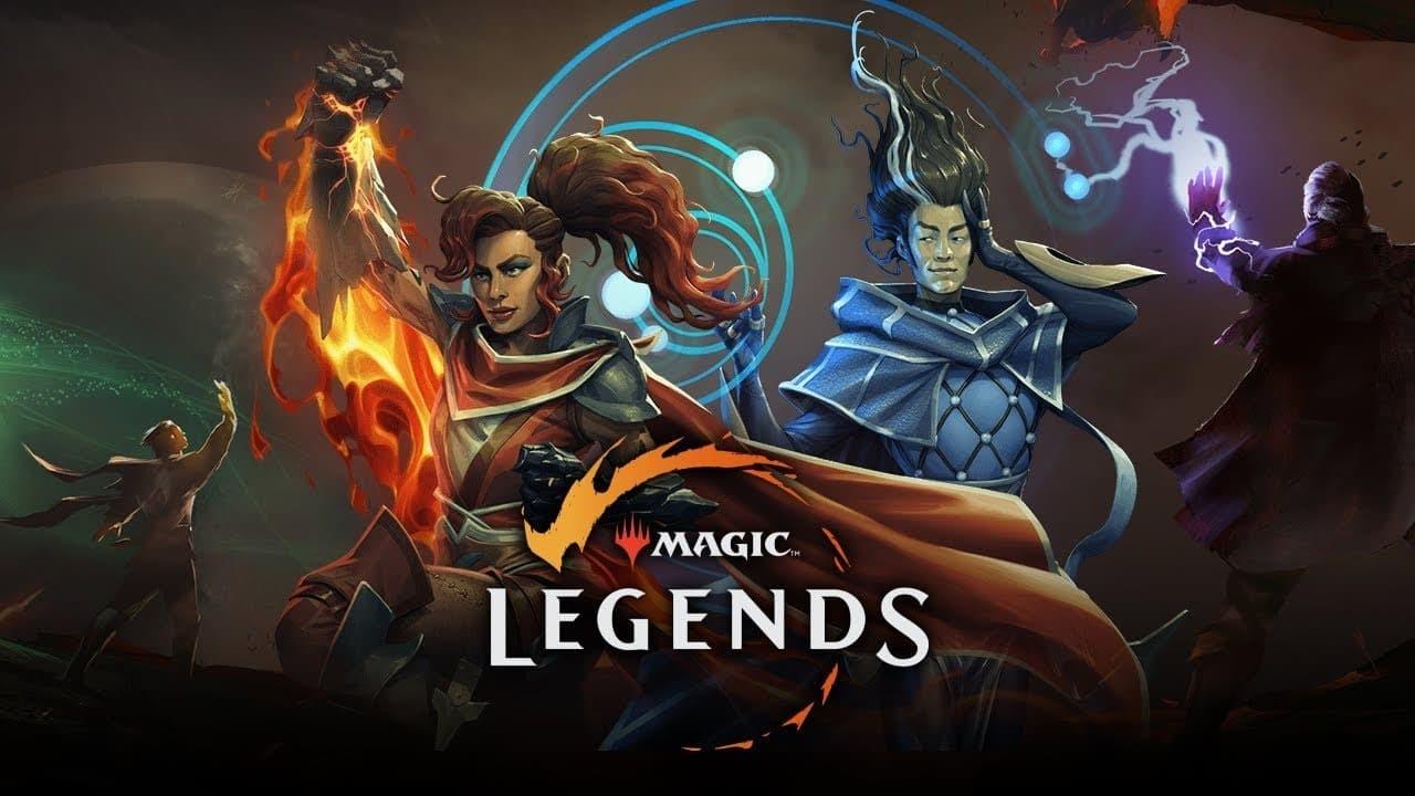Magioc Legends artwork geomante e necromante con titolo