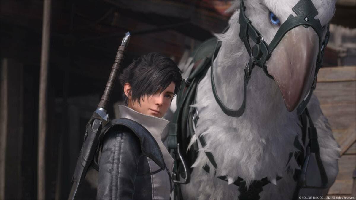 Final Fantasy 16 personaggio e grifone