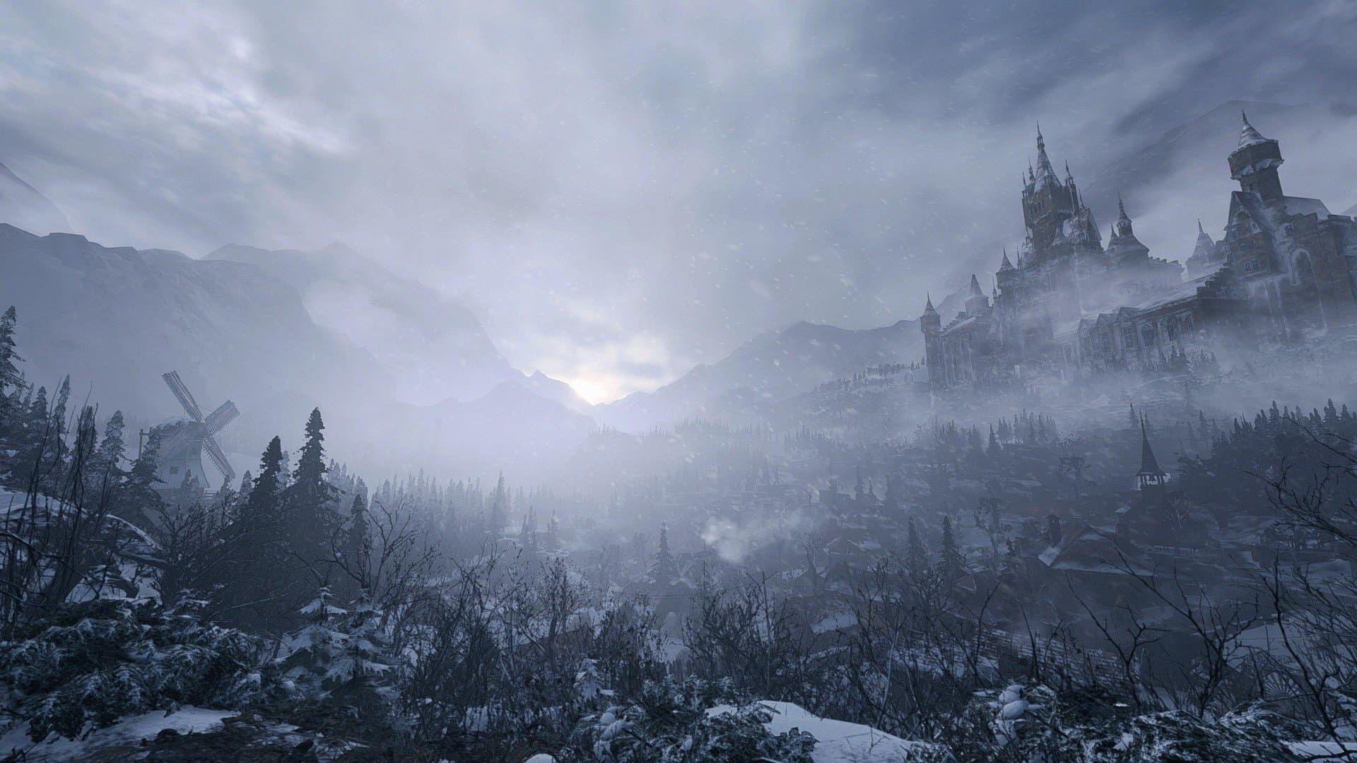 Resident Evil Village panorama mondo di gioco