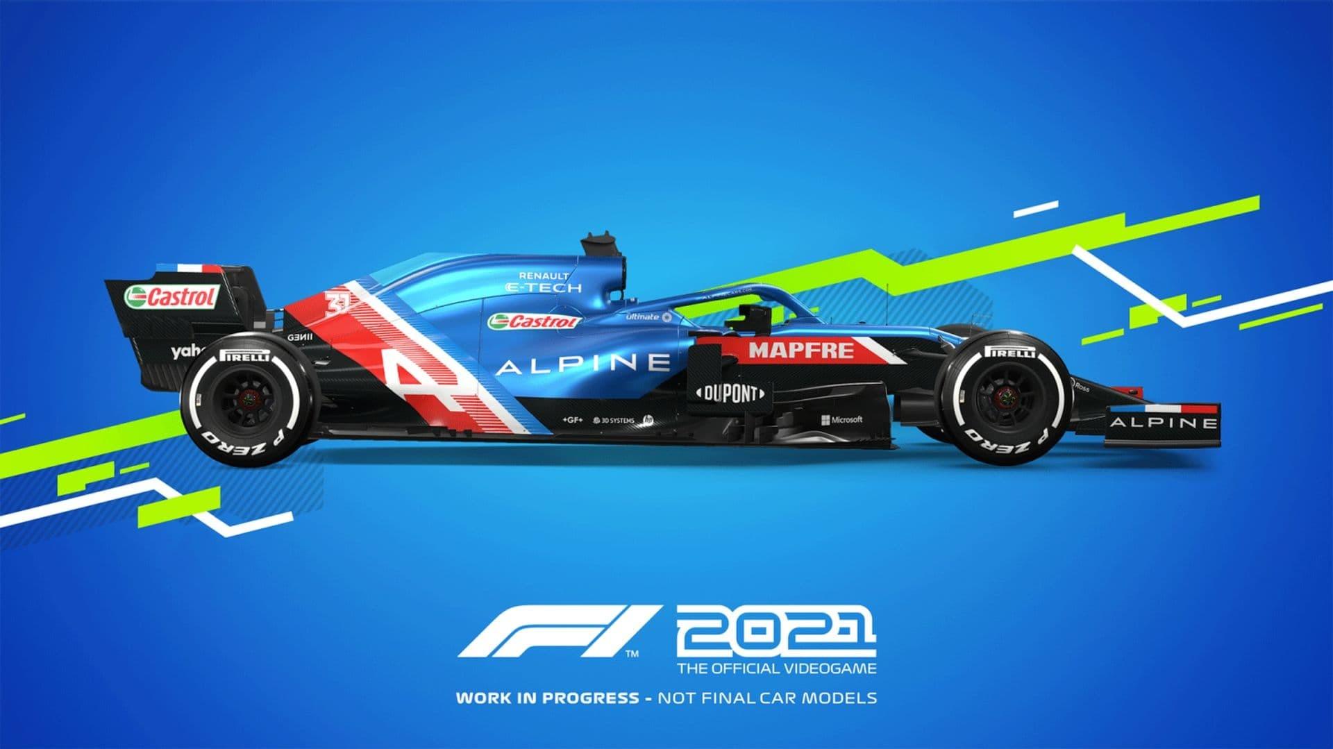 F1 2021 Alpine profilo livrea