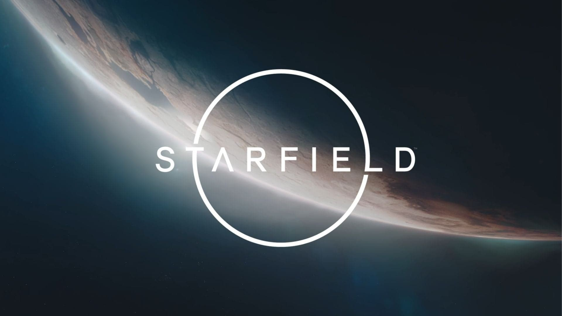 Starfield Logo in space