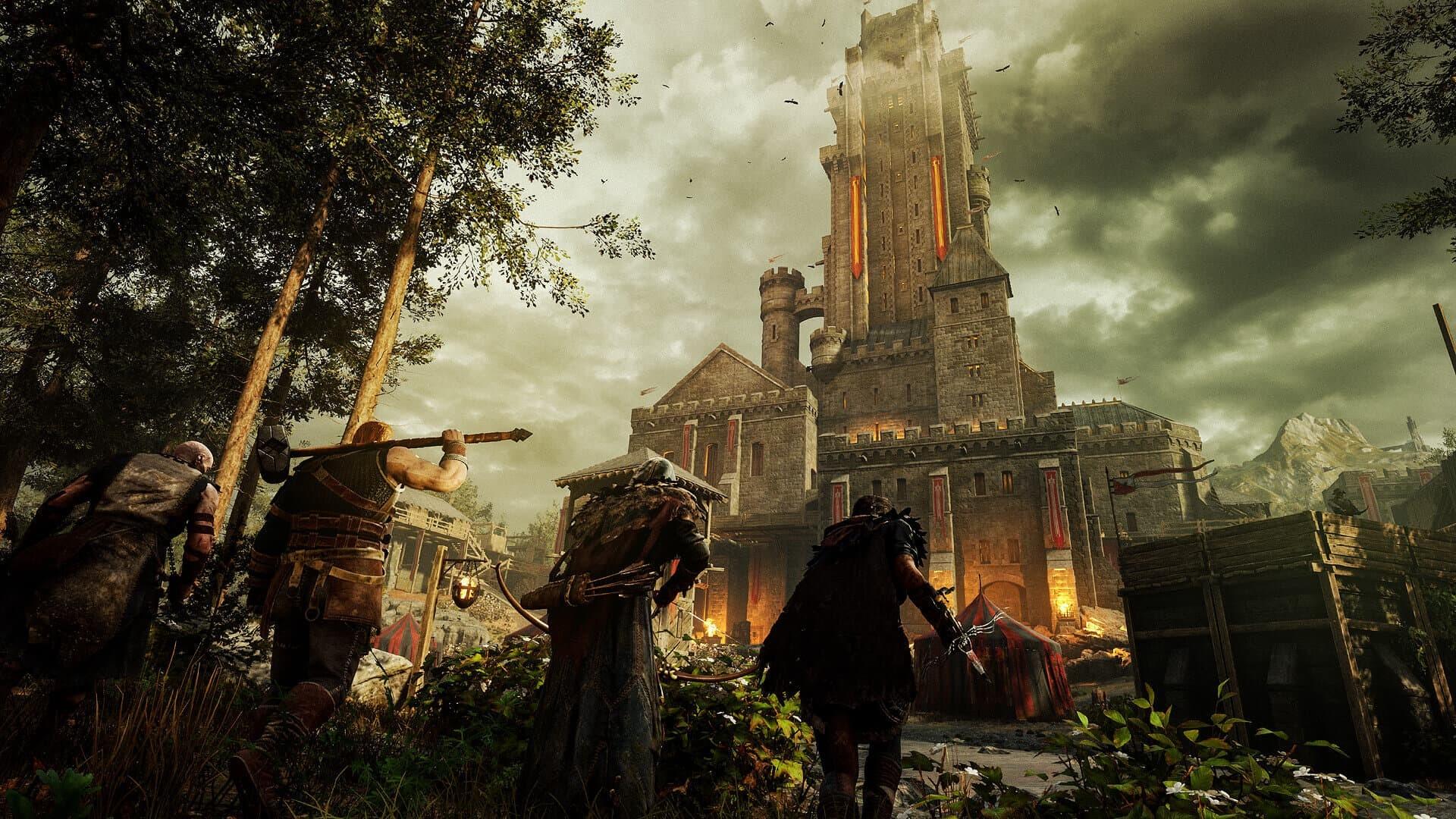 Hood Outlaw and Legends quattro giocatori e castello