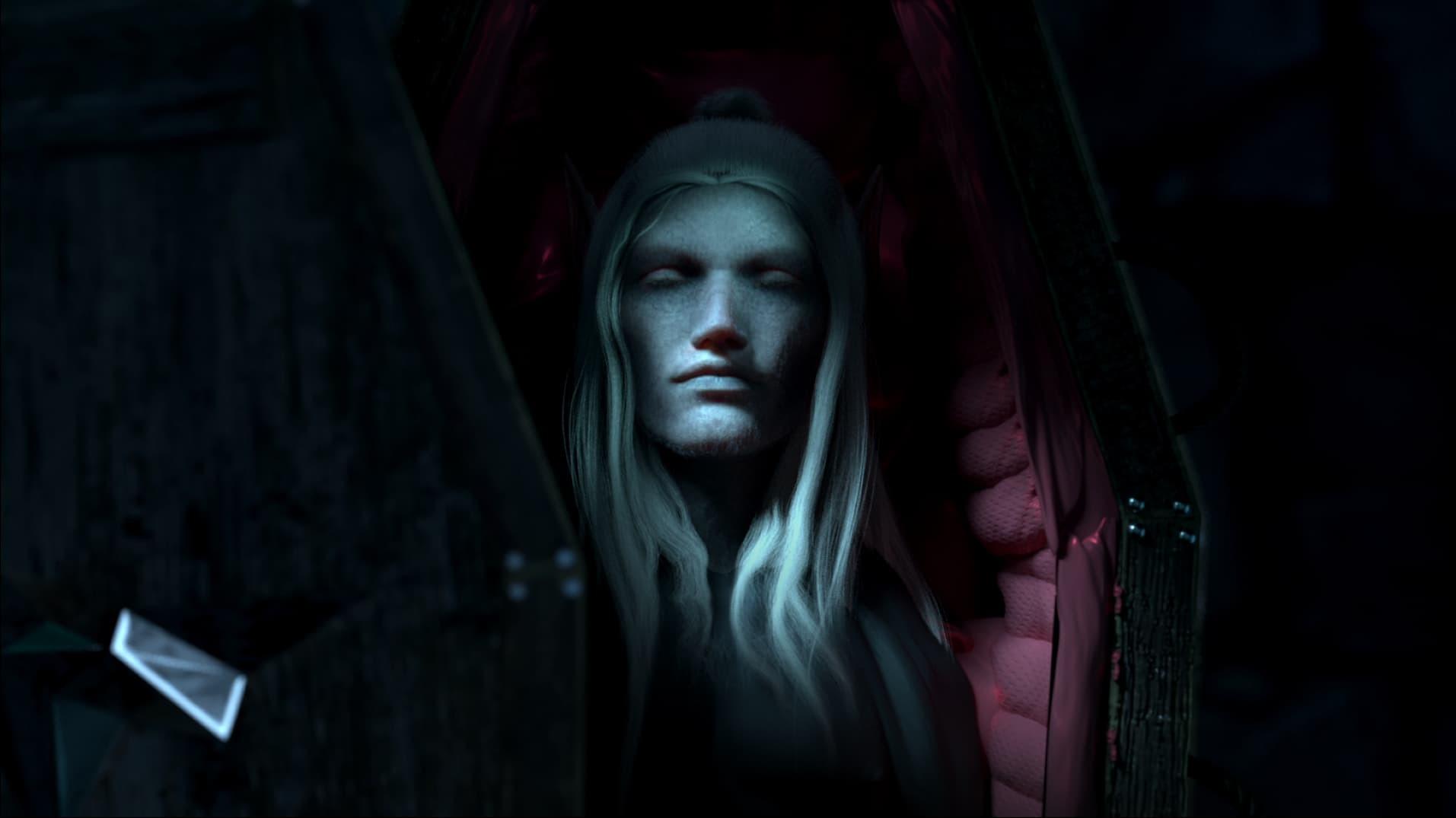 V Rising vampiro nella bara presskit