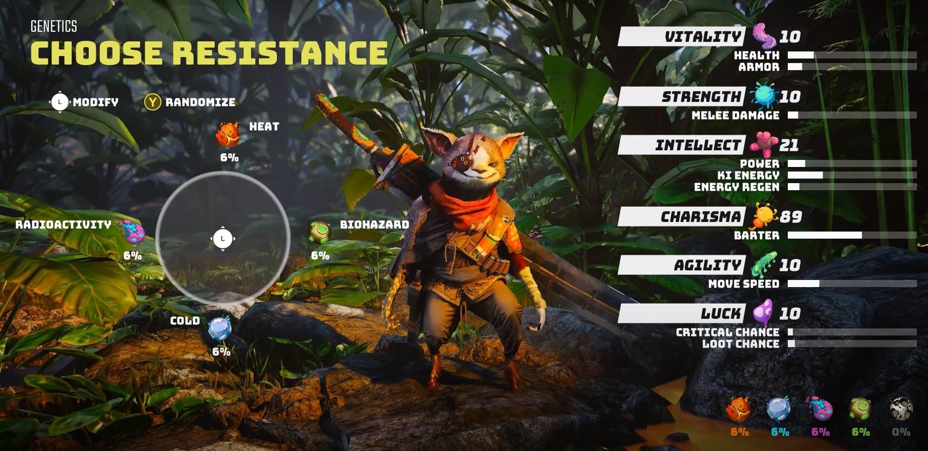 Biomutant screen creazione personaggio Game Informer video