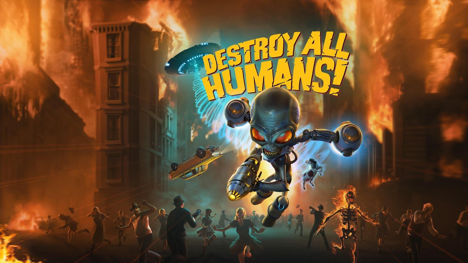 Destroy All Humans copertina con titolo
