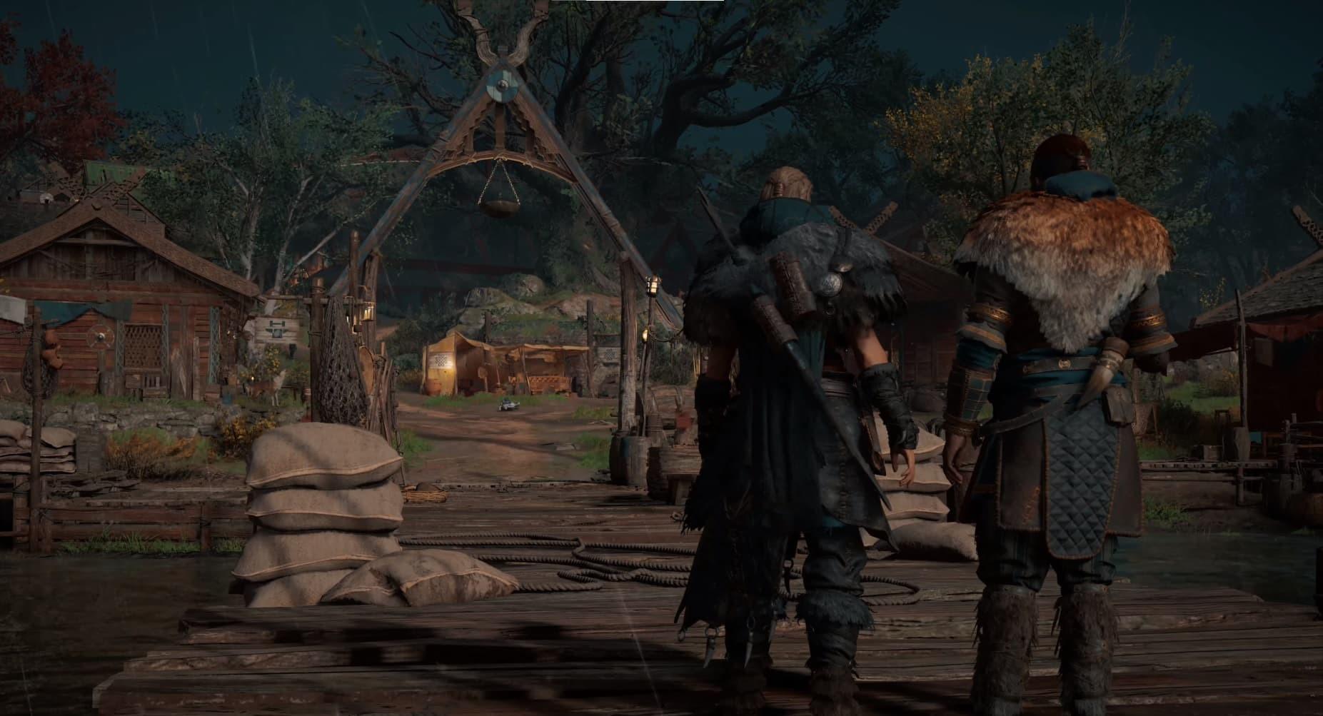 Assassin's Creed Valhalla Eivor e Sigurd sul pontile