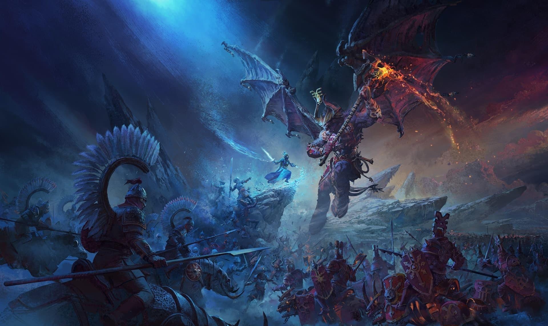 Total War Warhammer 3 artwork battaglia