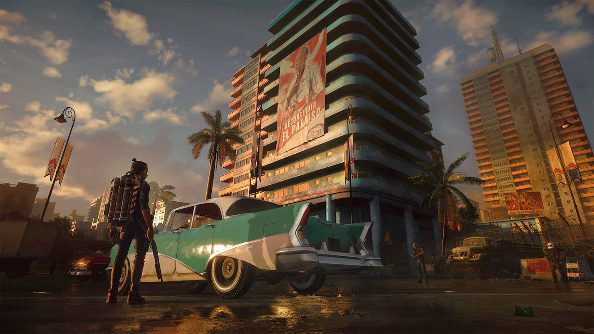 Far Cry 6 Dani panorama e auto