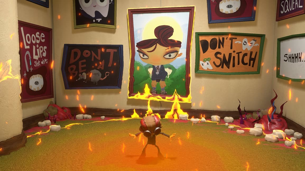 Psychonauts 2 museo a fuoco