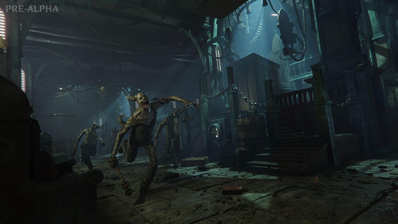 Warhammer Darktide zombie presskit