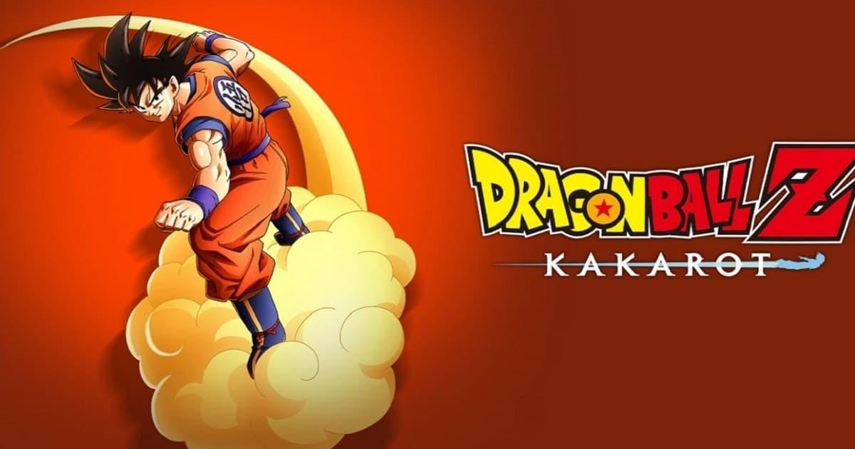 Dragon Ball Z Kakarot copertina con logo e Goku