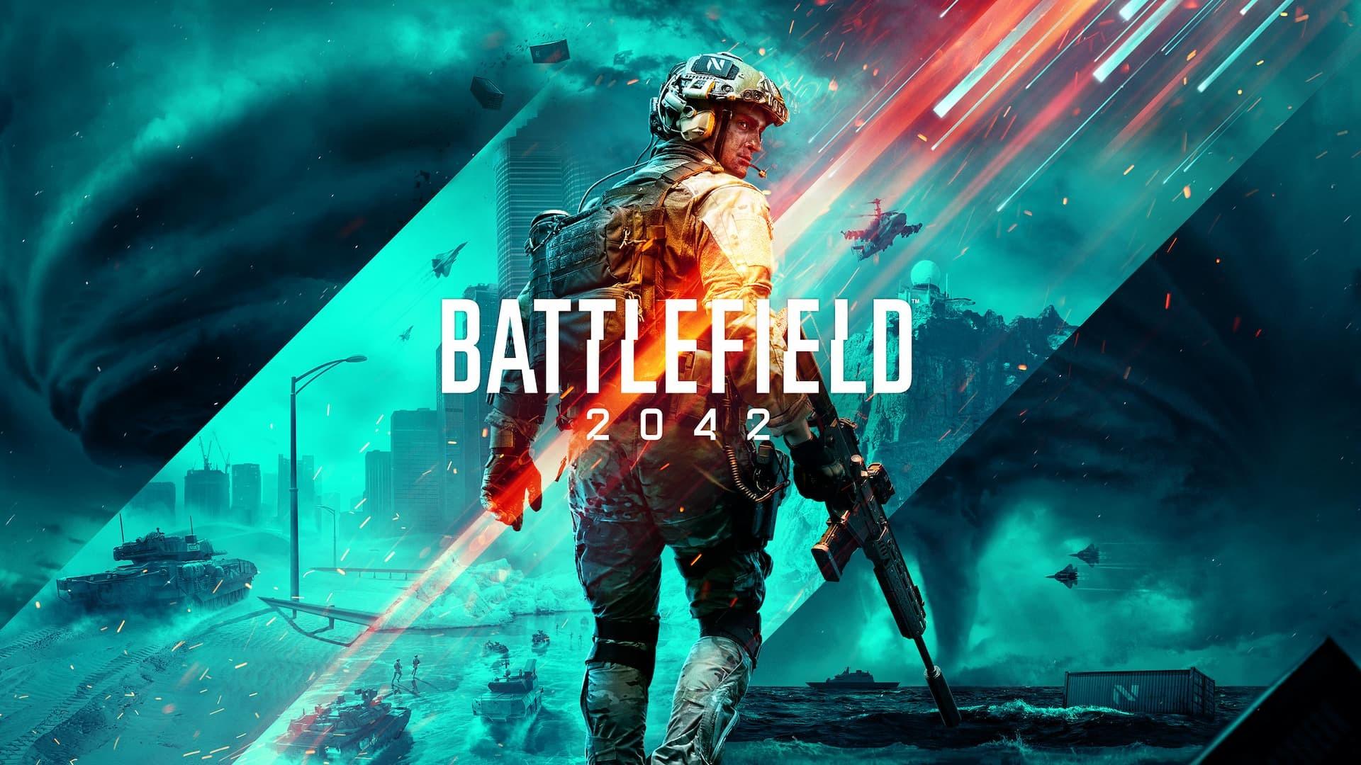 Battlefield 2042 copertina con titolo