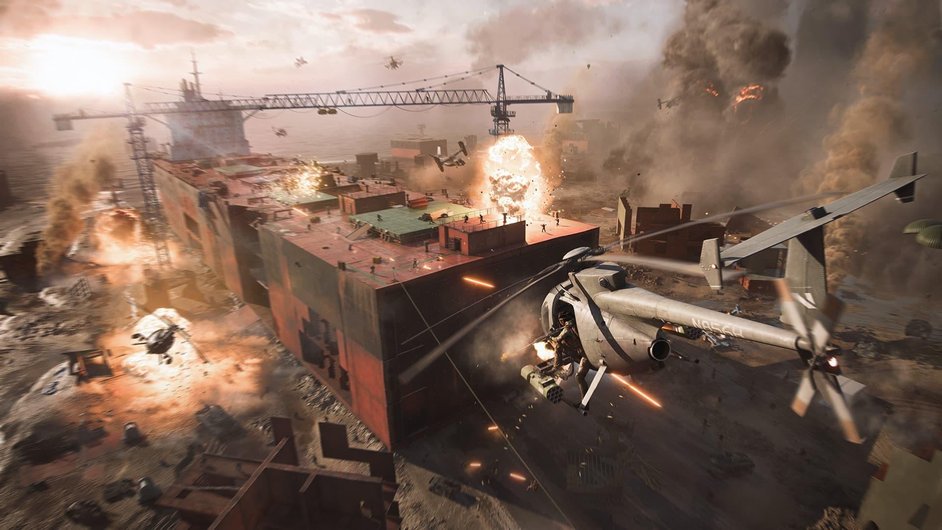 Battlefield 2042 container elicotteri e esplosioni