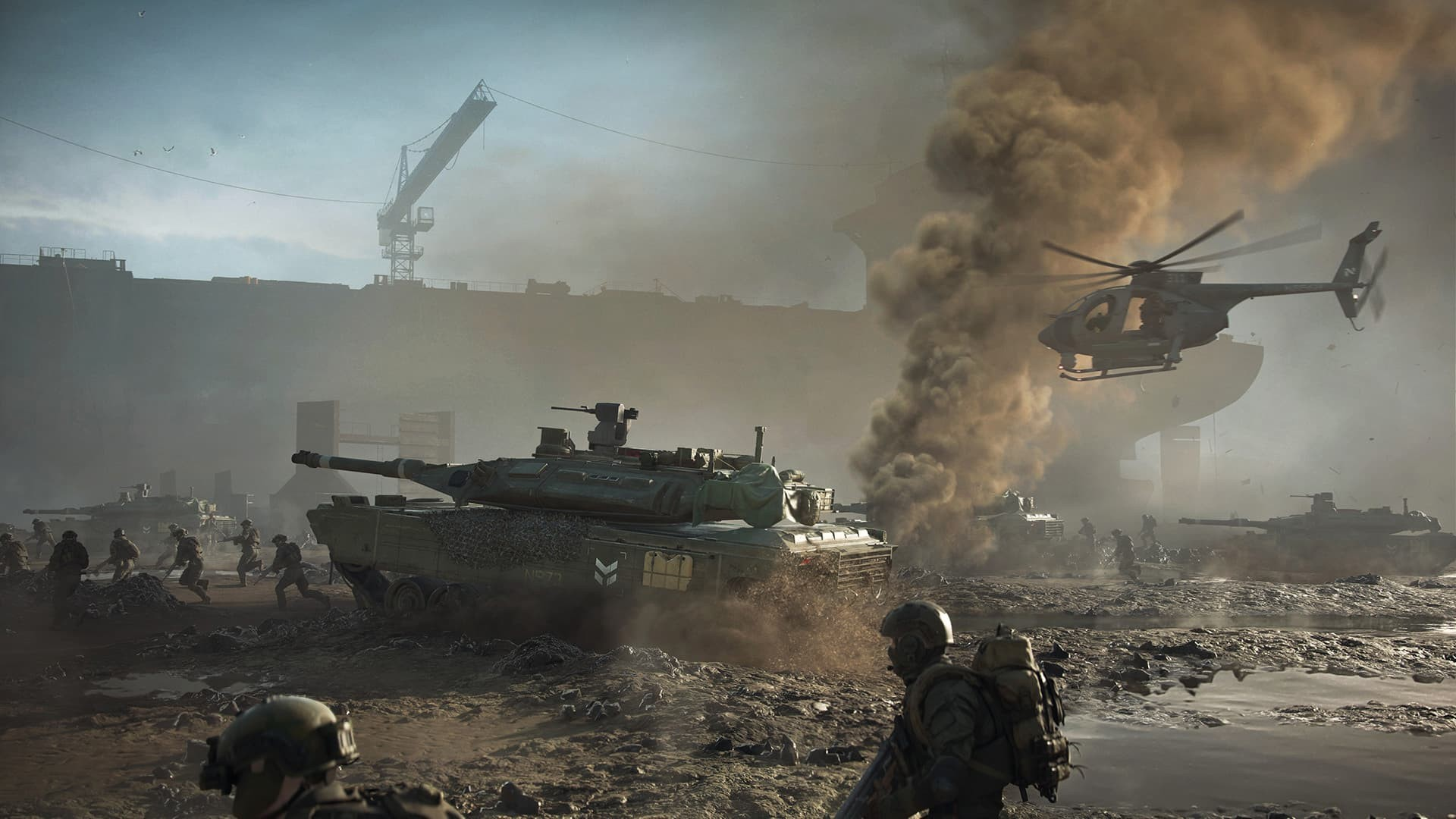 Battlefield 2042 carria armati deserto