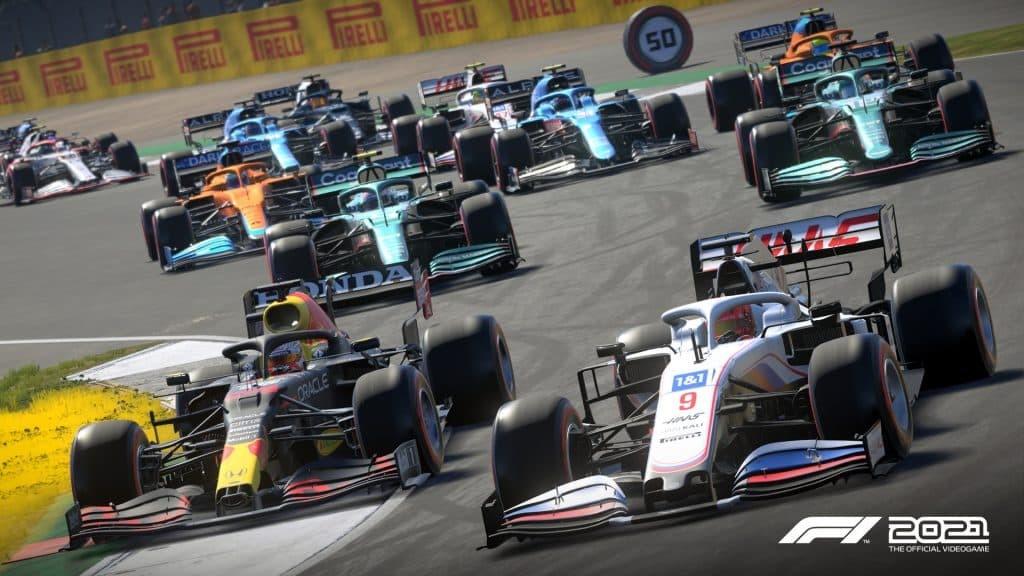 F1 2021 press kit azione di gara