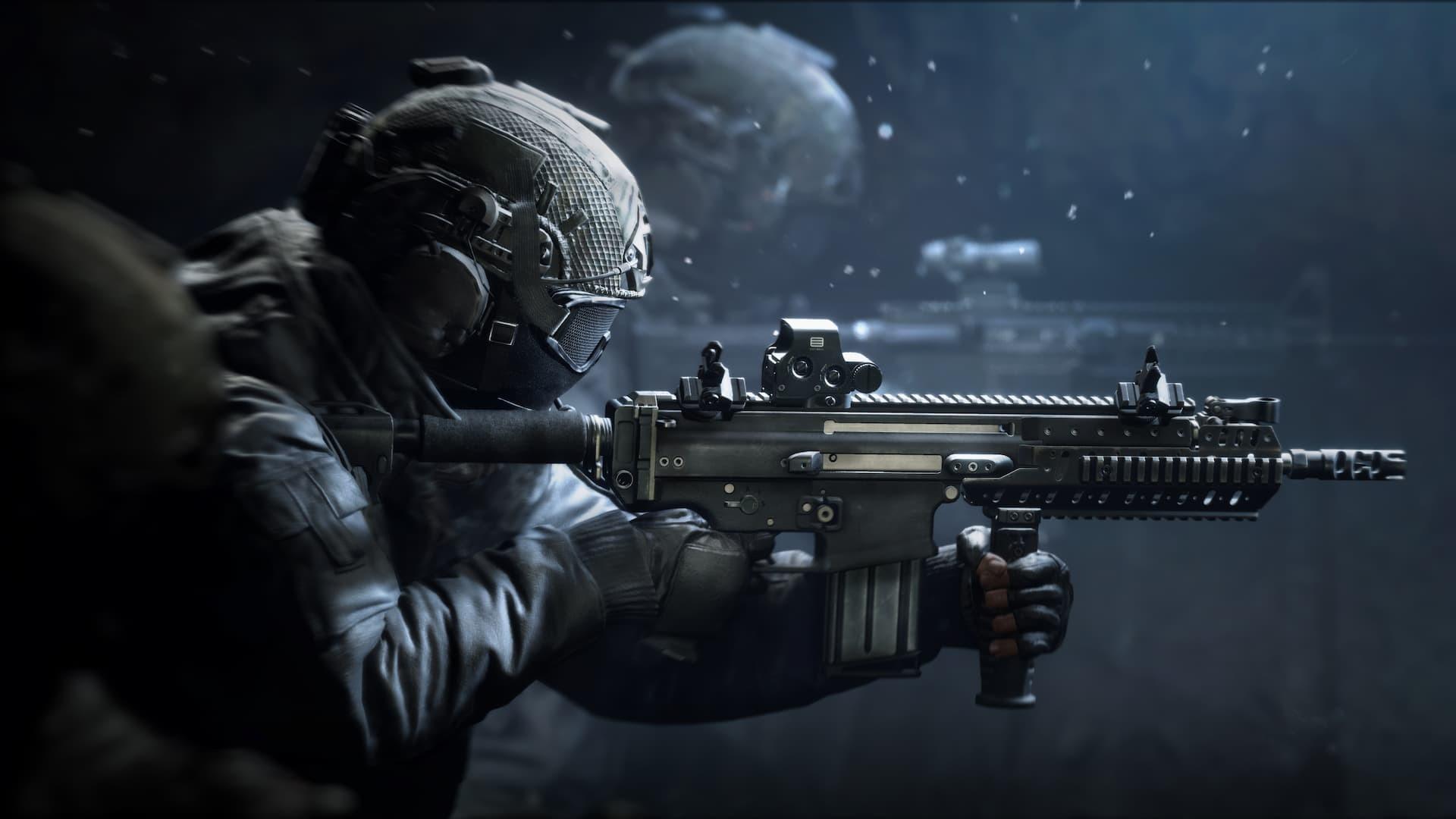 World War 3 presskit soldato con fucile d'assalto