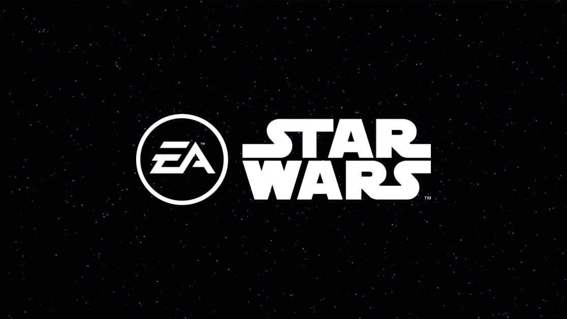 EA Star Wars logo sfondo stellato