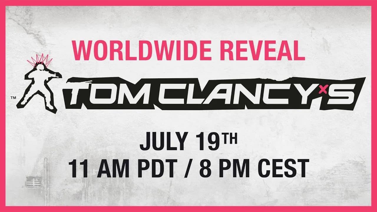 Tom Clancy nuovo gioco con orario di annuncio