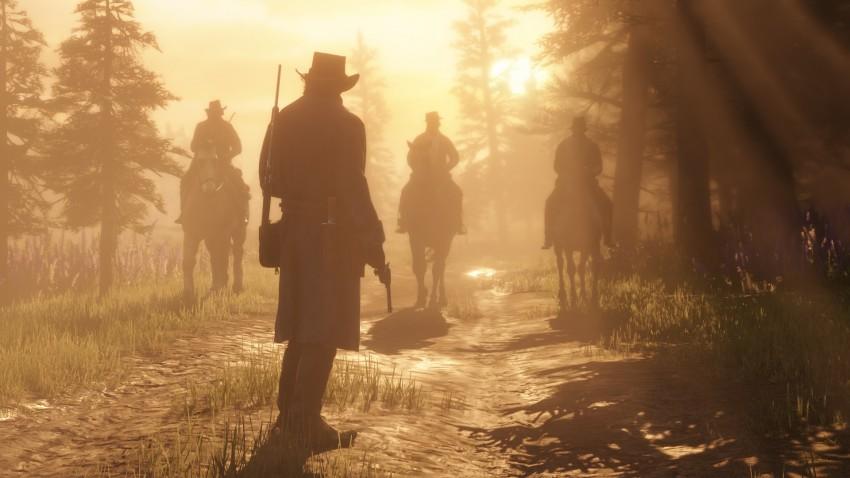 Red Dead Redemption 2 immagine tramonto