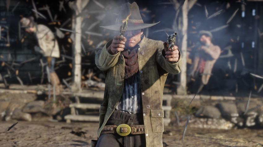 Red Dead Redemption 2 arthur doppia pistola