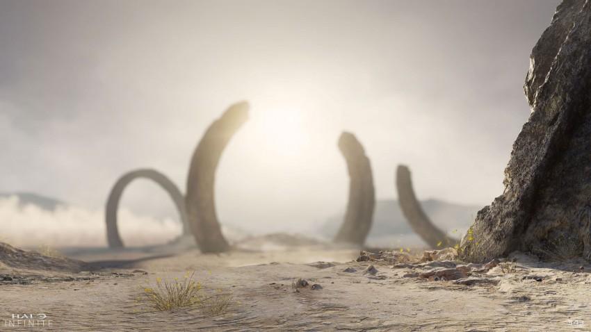 Halo Infinite trailer anelli sabbia