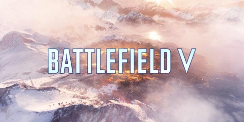 Battlefield V copertina solo logo