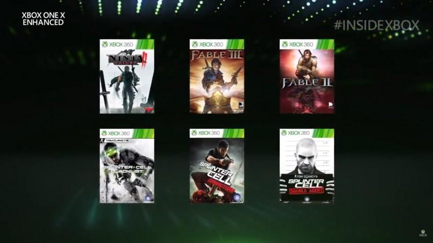 Xbox One X Enanched giochi Maggio 19