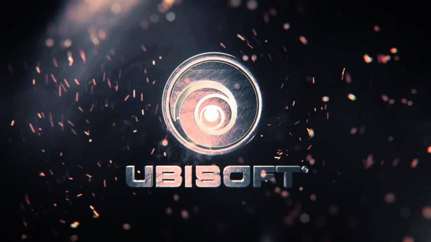 Ubisoft logo metallico con scintille