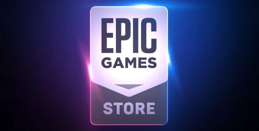 Epic Games Store Logo con sfondo colorato blu viola